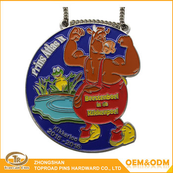 Custom made miraculous souvenir color enamel medal with ribbon sports medal