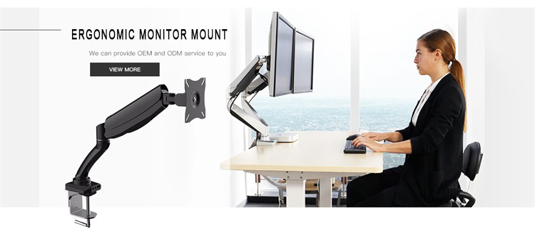 Brand new flexible swing monitor arm mounting bracket with keyboard