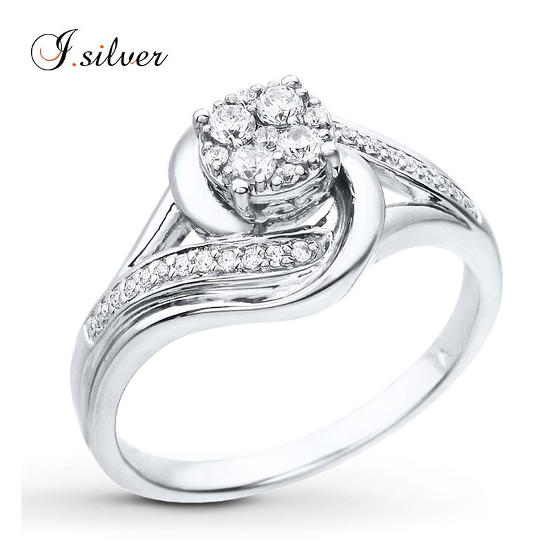 e048f2405066 925 plata esterlina cz anillo de compromiso de diamantes con chapado en oro  blanco R500725