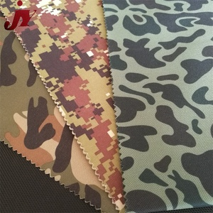Morden design customized cheap roll of 600D waterproof pvc coated military camouflage oxford fabric
