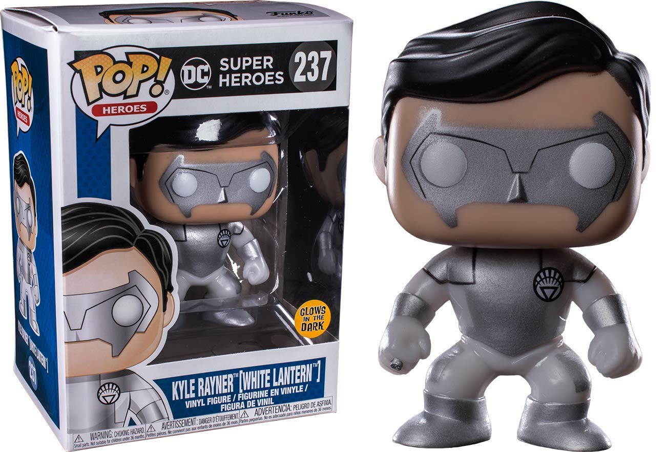 3dc57d2bbdc Get Quotations · Funko Pop DC Super Heroes  White Lantern Kyle Rayner Glow  Collectible Figure