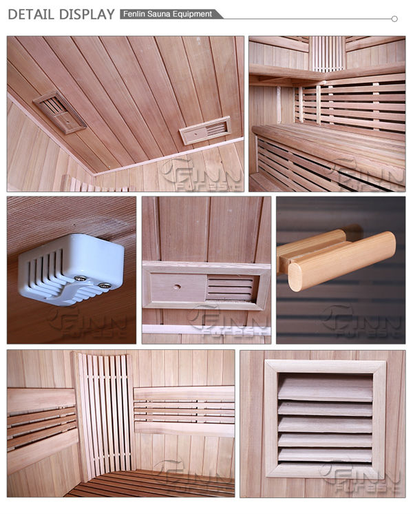 Outdoor 2-3 person use wooden sauna room home sauna