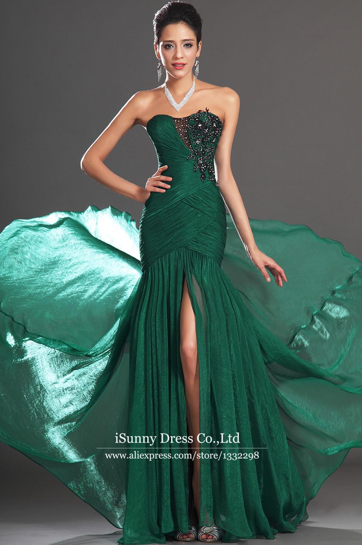 Dark Green Strapless Dress  b5647d3ab3ee