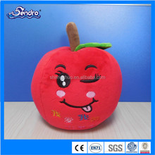 Hot red plush apple toy,Christmas Day's gift for girl