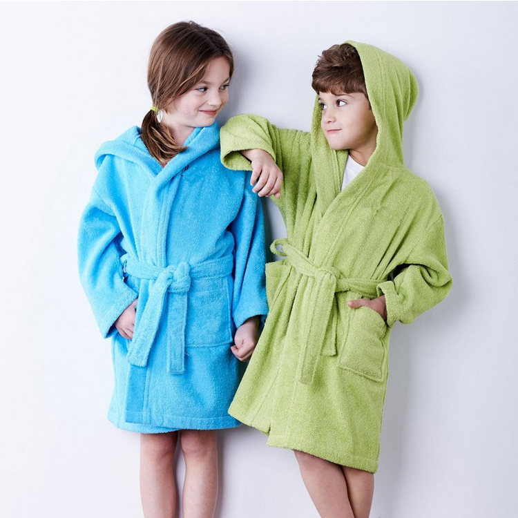 wholesale kids bathrobe custom cotton kids spa robes 9ab36e297