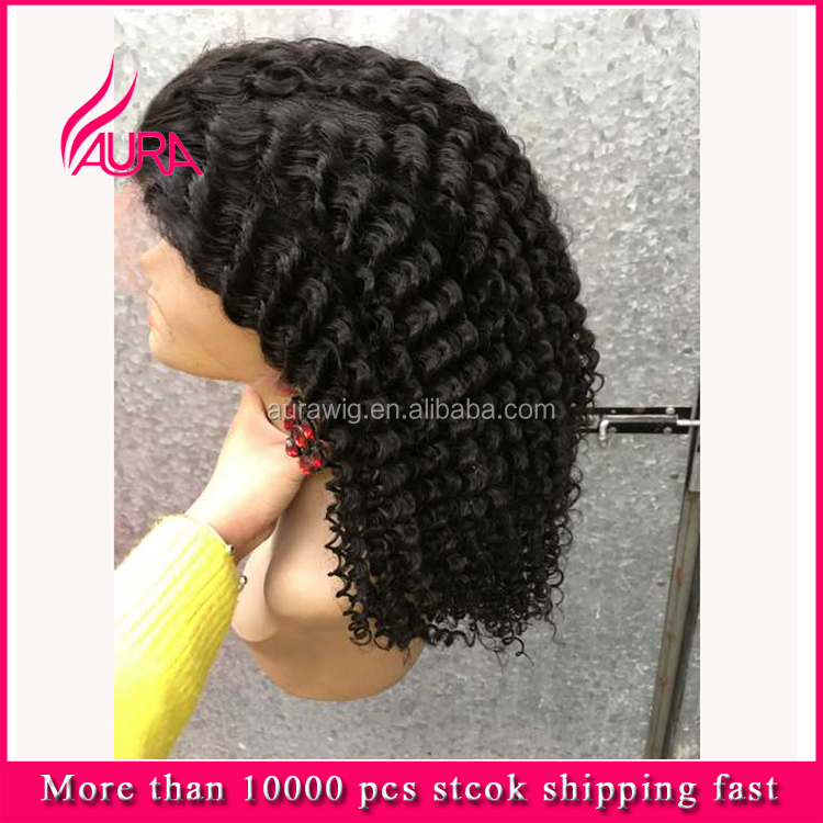 Wholesale Wig Black Women Malaysian Kinky Curly Full Lace Wigs Hot Selling Products