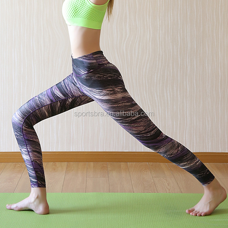 wholesale sport wear yoga pants printed leggings for women gym clothing sexy fitness apparel OEM and ODM manufactuer