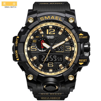 SMAEL 1545 Men Waterproof Digital Watch LED Men's Wrist watch Clock Man montre homme Big Men Watches Military Sport Watch