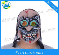 Halloween green latex terror Performing party mask terrorist devil witches mask