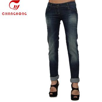 6b4bcde969ca8 Оптовая продажа без названия брендовые джинсы private label deep blue  прямые женские джинсы джинсовые