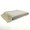 Herringbone Design Wool Blanket Throw 100% Wool Soft Long Fringed Blanket