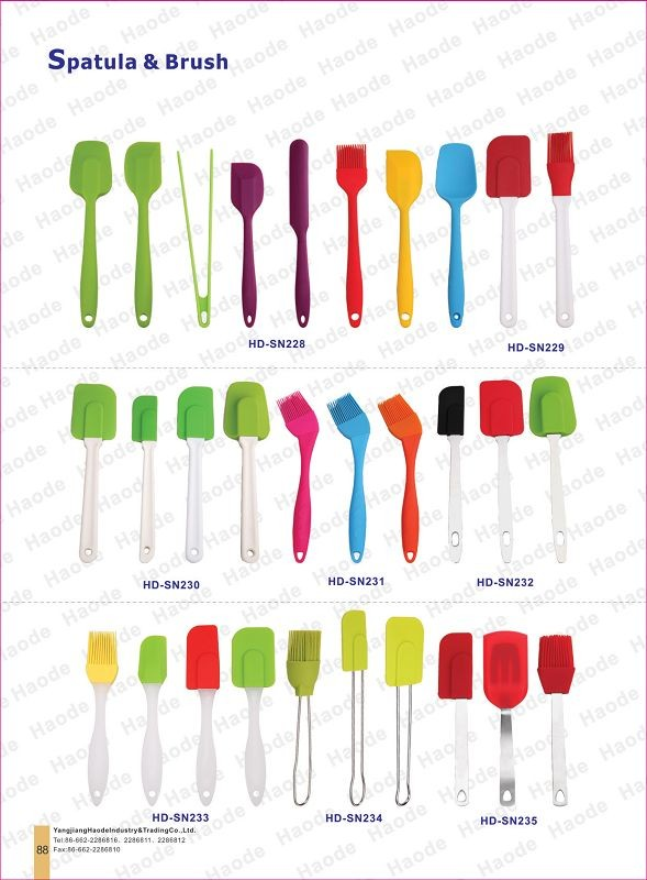 colorful silicone spoon kitchenware set