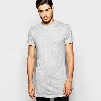 Longline Loose Knit T-shirt Mens Super Longline T Shirt In Grey ... 3f5a6ba89cac