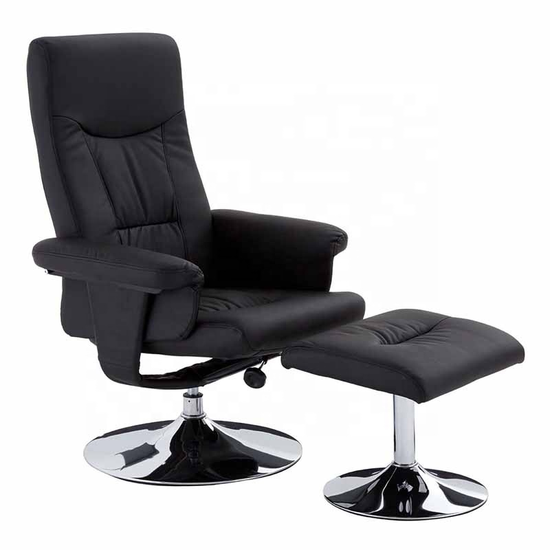 cheap PU Leather swivel Recliner Chair with Ottoman