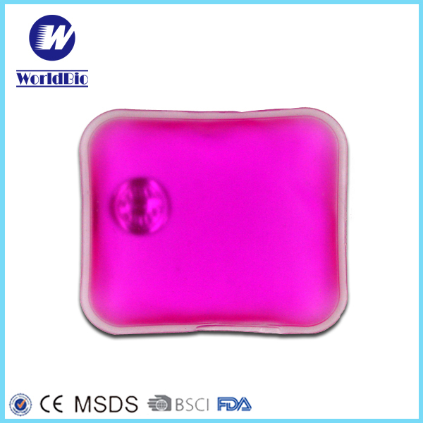 Rectangular colorful liquid Hot Gel Pack