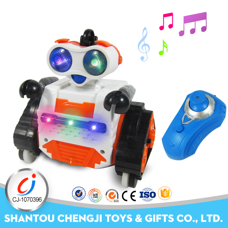 2.4G Multi-function remote control 3 colors mobile robot with music light