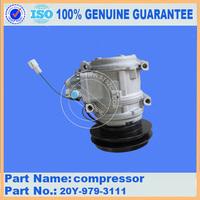 PC200-6 excavator spare parts air compressor price list 20Y-979-3111