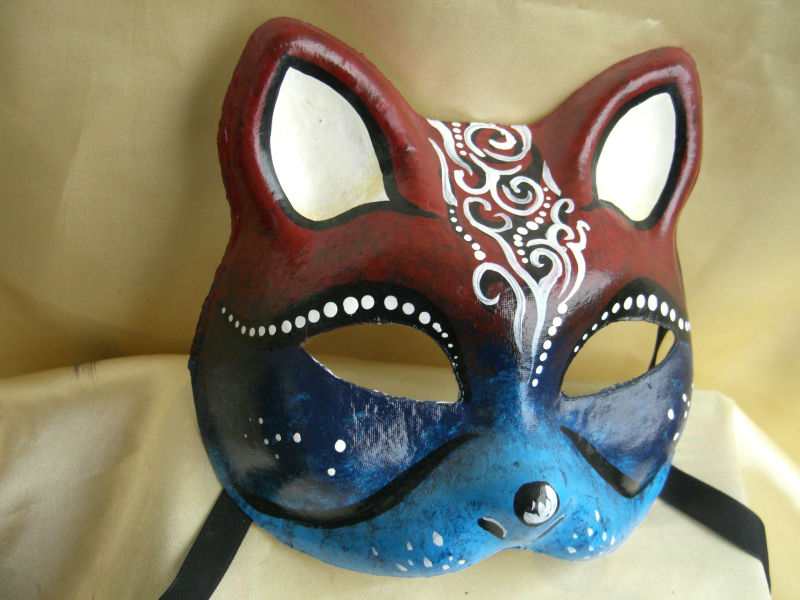Handmade Painting Party Cat Mask Face Mask Buy Painting Cat Mask