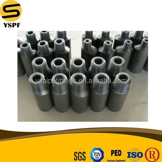 forged pipe fittings carbon steel swaged nipple eccentric MNPT ecc.swage
