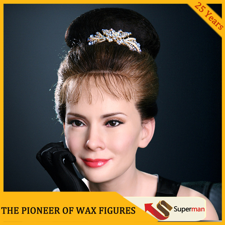 New products beautiful Audrey Hepburn wax figure for sale