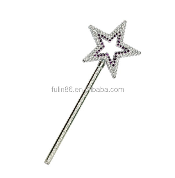 mini plastic toy pentagram fairy wand for kids