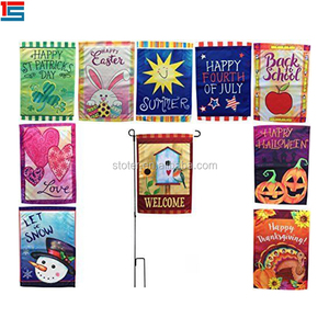 Custom seasonal garden flags for outdoors one for each month,monthly garden flag set