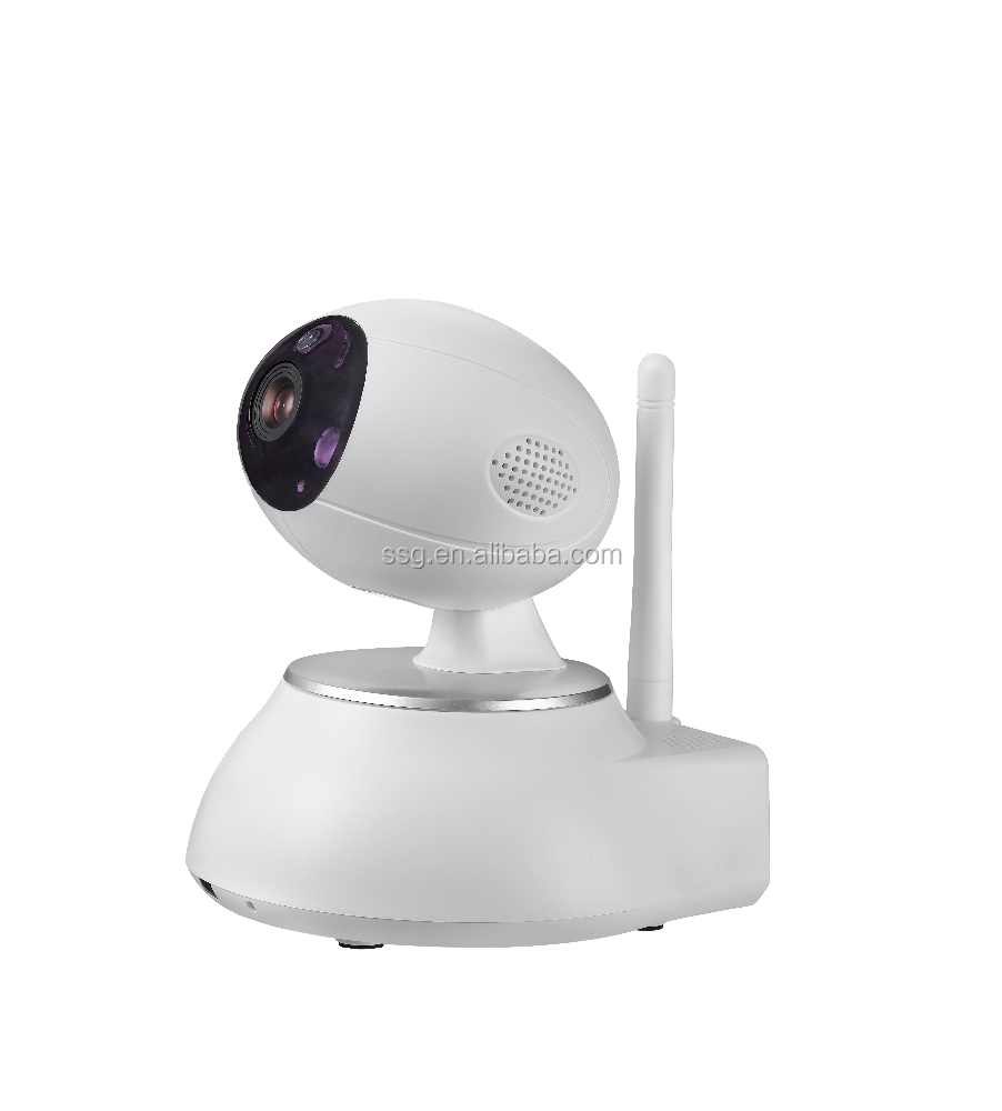 WIFI two-way audio intercom ip camera real-time monitoring with Plug and Play(P2P)