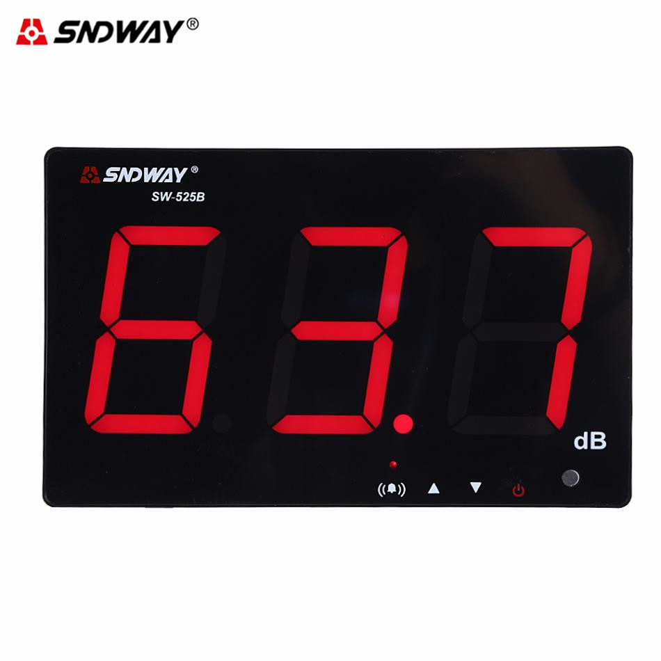 USB cable power supply 큰 스크린 digital sound level meter Sndway