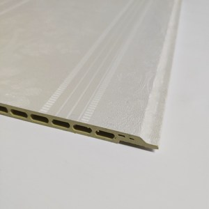 300mm Wall paper color 9mm price PVC WPC wall ceiling cladding panel for south africa