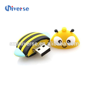 usb stick cute pvc bee shape flash drive usb 3.0 wedding gift