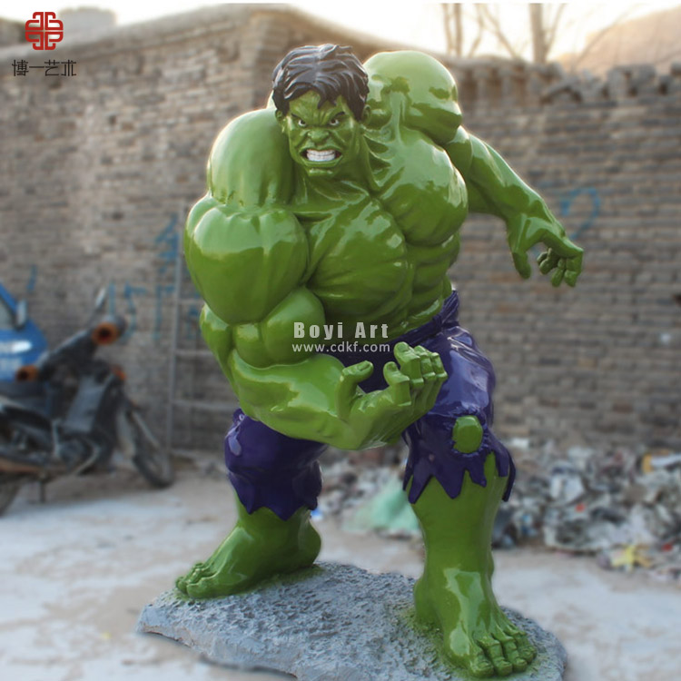 Movie The Avengers Character Sculpture Life Size Hulk Statue