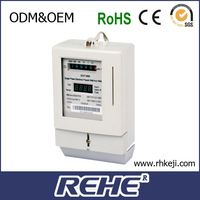 single phase electronic prepaid watt hour meter with smart Card