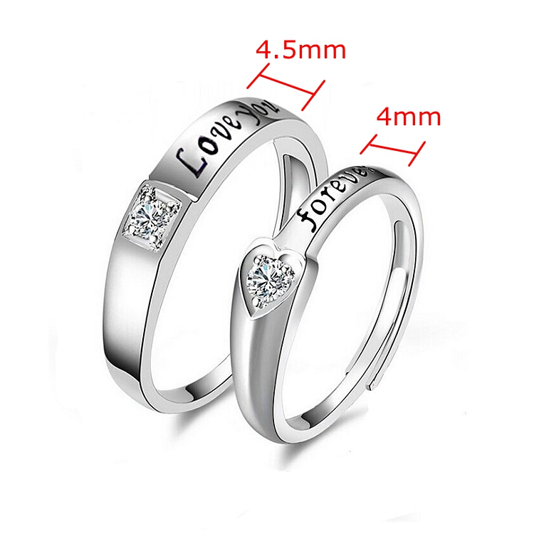 Tanishq Simple Engagement Diamond Platinum Couple Ring Engraved