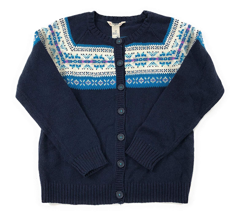 OshKosh BGosh Little Girls Purple Knit Cardigan Button Sweater