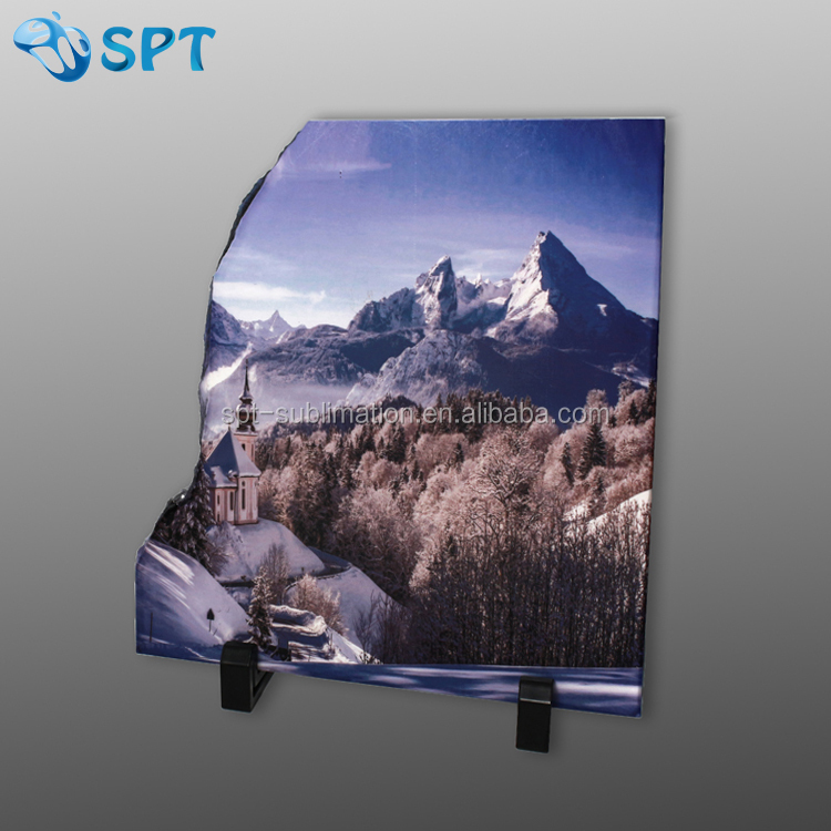 Blank sublimation photo rock slate with Left Abnormal shape
