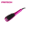 PRITECH Aluminum Alloy Plate LCD Display Steam Hair Straightener Brush With Sprayer