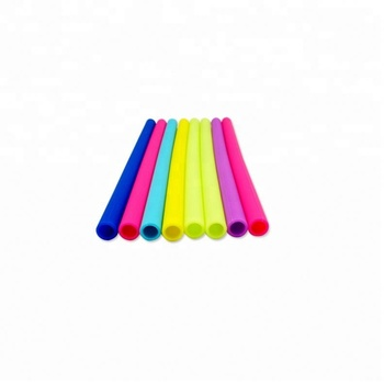 Top Quality Custom Smoothie Long Straws BPA Free Reusable Silicone Straws