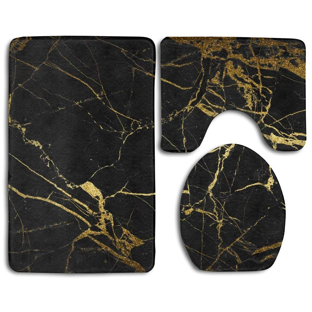 HOMESTORES Perfect Gifts - Chic Blue Marble Texture Thicken Skidproof Toilet Seat U Shaped Cover Bath Mat Lid Cover