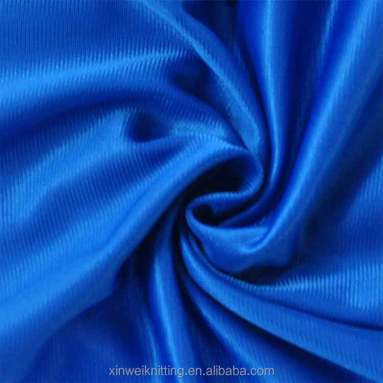 Plain knitting 100 polyester tricot one side brushed super poly fabric