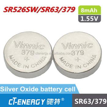 1.55v Silver Oxide Watch Battery Price For Sr526sw 379 Sr63 Vinnic ...