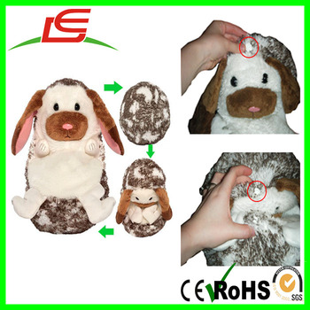 Custom open up to play curl up hide away soft stuffed animals toys with every shape and size