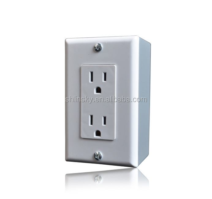 50 pc Decorator Duplex Receptacle 15 Amp GRAY 15A Decora Outlet Self Grounding