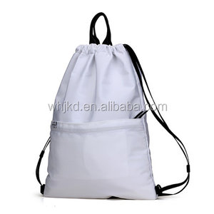Vinyl camouflage cute drawstring backpack padded drawstring bag polyester ballet eyelet drawstring bag