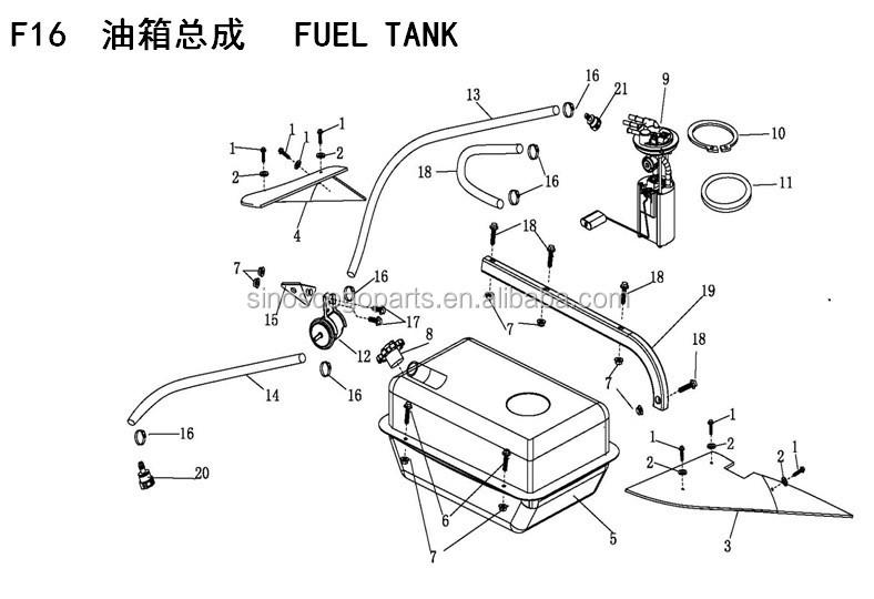 New Fuel Pump EFI UTV800 ODES Fuel Pump Dominator Raider Assailant ATV US