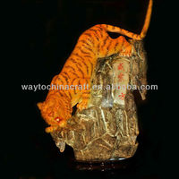 Home decorative specially designed porcelain table lamp with a tiger