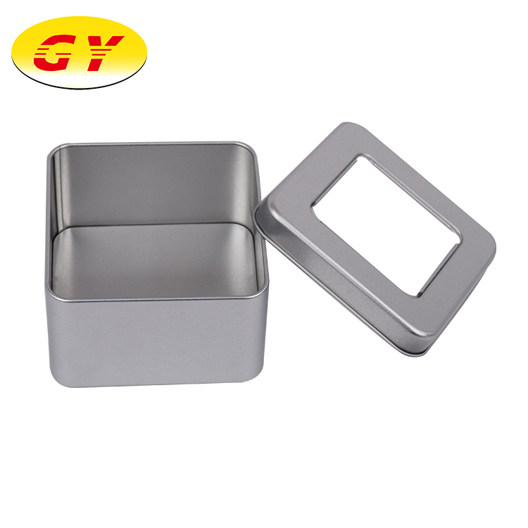 Wholesale stock square metal storage cookie tin box