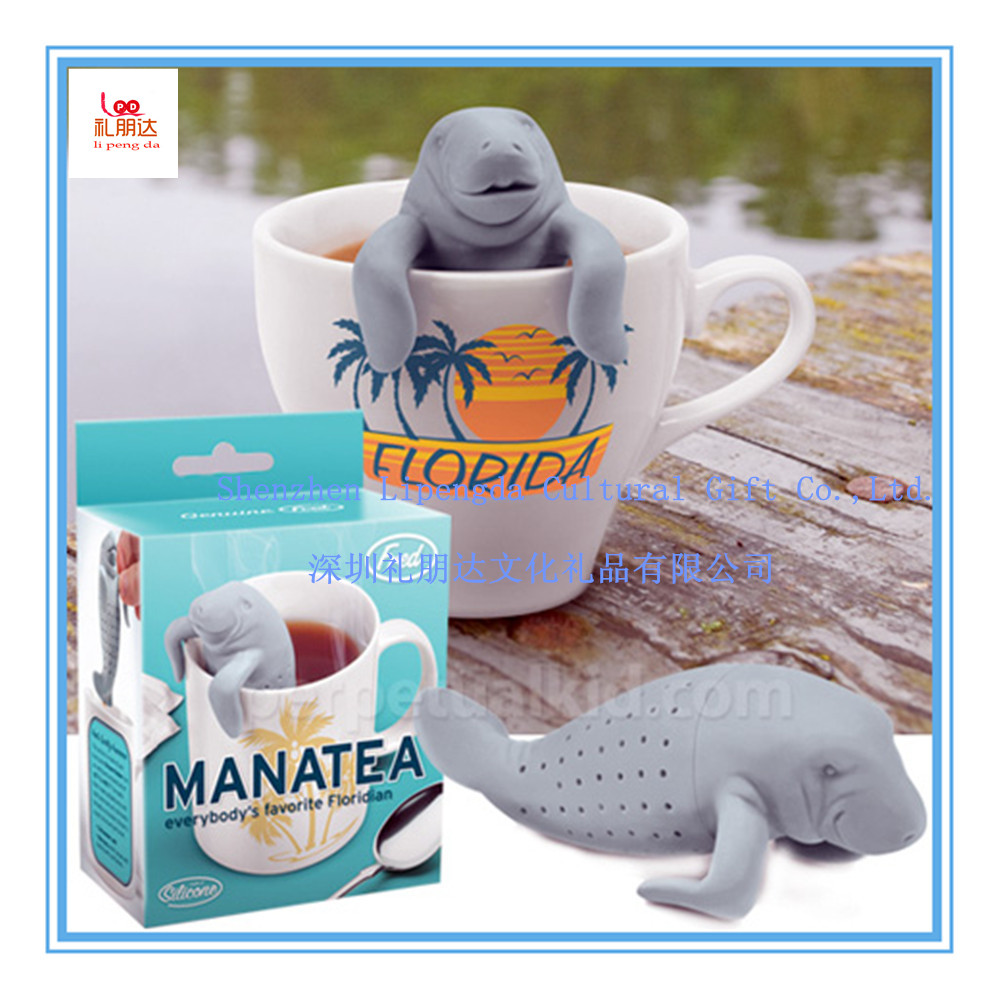 Happy Manatee Tea Infuser - 100% Food Grade Silicone Tea Filters for Loose Leaf Tea