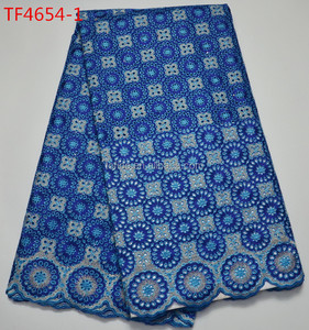 Latest promotion swiss cotton voile lace voile lace fabric for making party dress