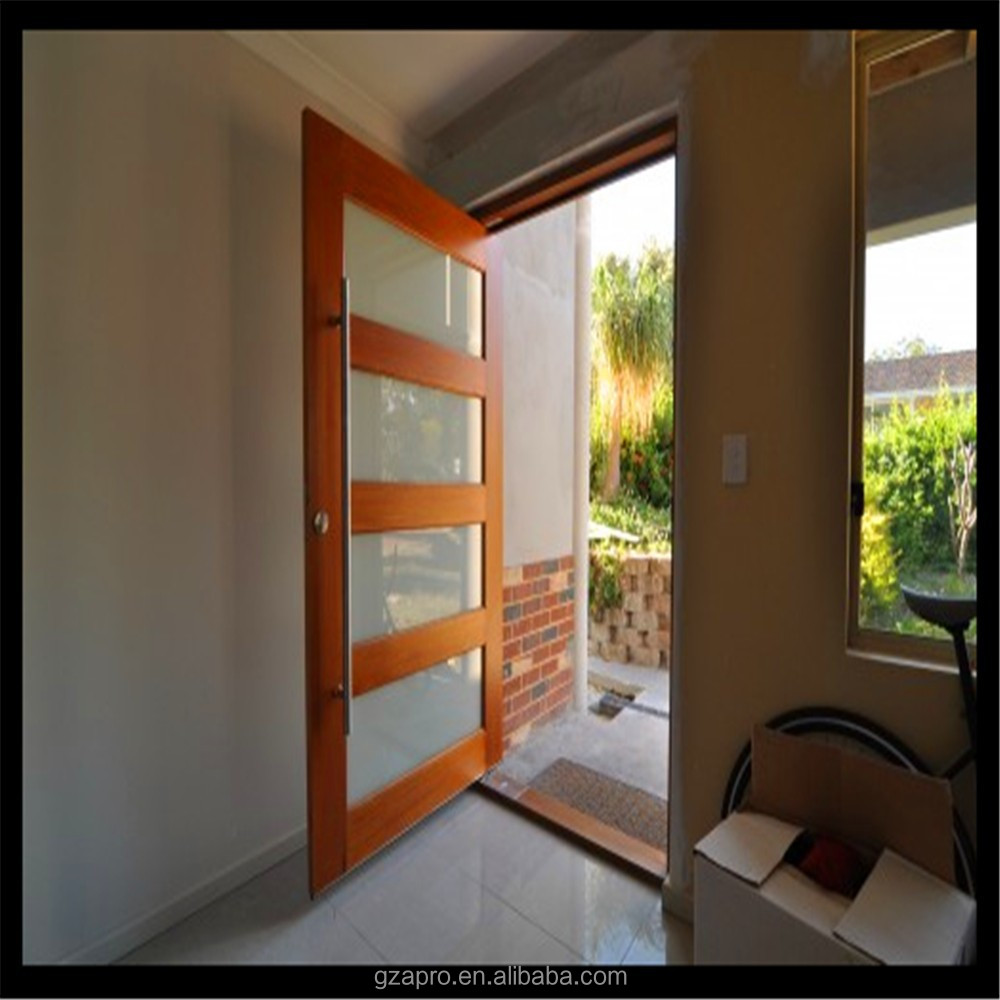norma australiana de pivote de aluminio puerta de entrada puerta principal