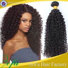 Hot China factory indian hair wholesale single strand kinky curly hair extensions